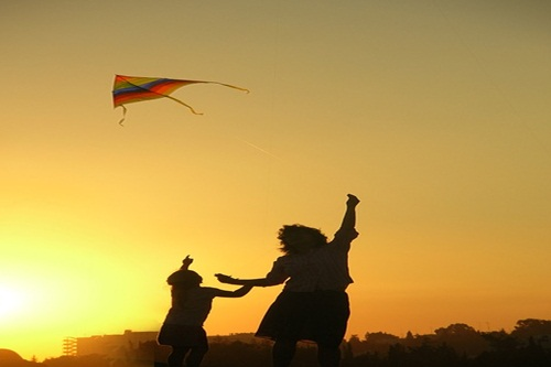 Kite Flying by young person